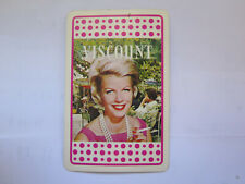 VISCOUNT CIGARETTES PLAYING CARD ACE of HEARTS c1960s LADY in PINK