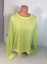 CABI Perforated Lime Open Back Sweater Women's Medium