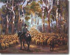 Nostalgic AUST Drover Landscape 03- 60 x 50 cm NEW RELEASE Aust. design!.