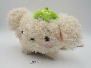 "Berry Puppy A2711 Dog White San-x Laying Plush 6"" TAG Stuffed Toy Doll Japan"