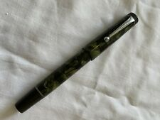 More details for art deco mottle green stephens fountain pen 14ct gold nib ink writing