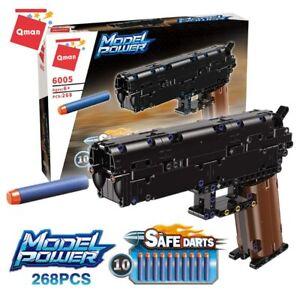 Desert Eagle Manual Soft Shooting Building Blocks Gun Toys 10 Safe Foam Bullets