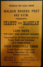 Original Chandu & Lady Ruth Window Card