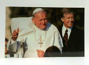 President Jimmy Carter & Pope John Paul II White House 1979 Postcard