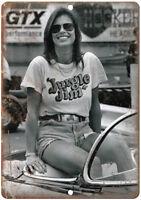 """Jungle Jim Racetrack Jungle Pam Liberman 12"""" X 9"""" Retro Look Metal Sign A640"""