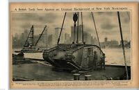 "1917 Rotogravure Picture WWI British Tank  NYC The Holy Carpet  ""Mahmal""  Cairo"