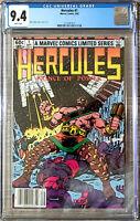 Hercules #1 Bob Layton Cover CGC 9.4 Marvel Comics 1982