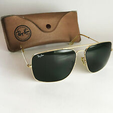 Vintage Ray Ban B&L USA EXPLORER Sunglasses gold aviator 62mm square caravan