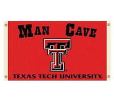 Ncaa Texas Tech University Red Raiders Man Cave 3' x 5' Flag w/4 Grommets Banner