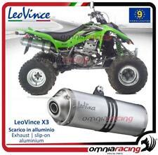 Terminale Scarico Leovince X3 ATV/Quad Omologato Suzuki LTZ 400 2003 03>04