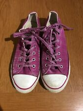Converse All Star Trainers/plimsoles/show, Size UK4.5,pink/glitter/sparkle