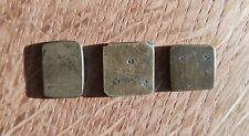 Early Set of Three Antique Weights or Coin Weight
