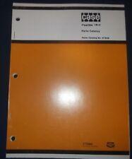 Case Fleetline 16 4 Trencher Parts Book Manual