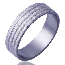 B1367 Simple Style Men's Band Ring White Gold Filled Size 11#