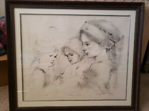 Framed Artist Proof Edna Hibel Signed