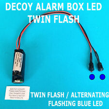 Decoy Alarm Siren LEDs Twin Flashing/Alternating BLUE LED's 10 yr Battery Fitted
