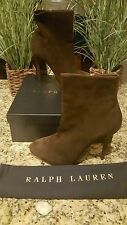 Ralph Lauren Women Collection Suede Brown Boots Italy RARE Sz 11 $850 THESPOT917