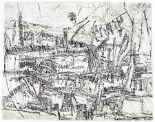 "DDR-Kunst. ""Landschaft mit Ballon""1983. Horst Peter MEYER (*1947 D) handsigniert"