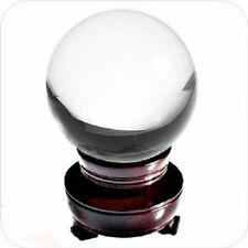 Clear Crystal Ball with Wooden Stand and Gift Box, 200mm (8 in.)