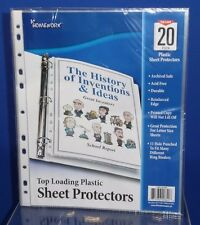 20 Clear Protective Album Binder Pages Sleeves Letter Sz 11 Hole Punch Top Open
