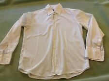 Boss Hugo Boss White Cotton Button up Long Sleeve Blouse Size large fitted