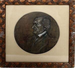 "Wilhelm Gause (Aut) ""Portrait Richard Wagner"" Aquarell-Papier um 1900"