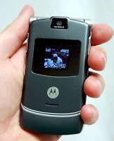 Motorola Razr V3c VERIZON Cell Phone V3 Razor DARK GREY flip camera bluetooth -C