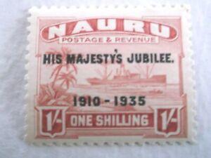 1935 Nauru Silver Jubilee 1/- Carmine m/m Mi.35.C15