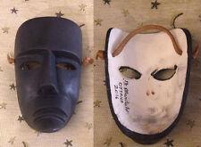 Maschera del Carnevale di Ottana, Boes e Merdules originale artigianale in legno