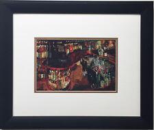 "LeRoy Neiman ""Riccardo's Bar, Rush Street Chicago"" Newly CUSTOM FRAMED Art Print"
