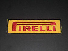 MOTORSPORTS MOTOR RACING SEW/IRON ON PATCH:- PIRELLI (a) BLACK EDGE STRIPE