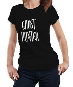 Ghost Hunter - Paranormal Investigator Haunted Women Ladies T-shirt Tshirt Top