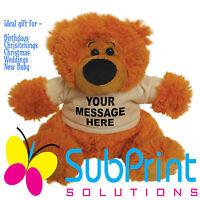 Personalised Toy Teddy Bear Birthday Weddings Christening Bridesmaid Baby Gifts