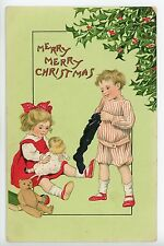 Beautiful TUCKS Christmas Children Series Teddy Bear Antique ca. 1910s