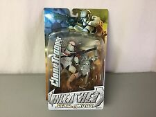 NOC Star Wars Unleashed Clone Trooper & Another Trooper Figure Hasbro 2004 #6R