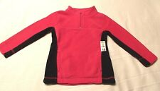 NWT - Girl's Pink & Black Half-Zip Fleece Pullover  sz. XS (4-5)