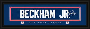 New York Giants Odell Beckham Jr Signature Framed Print - NFL Poster Man Cave