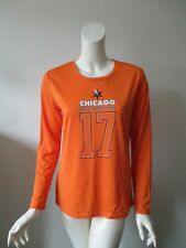 Women's Life Time Orange Chicago Half Marathon Long Sleeve Running Jersey Top M