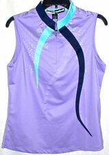 NWT Ladies JAMIE SADOCK VIOLETTA Purple Sleeveless Golf Shirt - size S $89