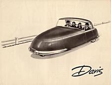 Print.  1948 Davis Three Wheel Vehicle - Auto Ad