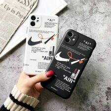 NIKE LOGO Boy Fashion AIR OFF-WHITE Soft Phone Case Cover For iPhone 11Pro SE XR