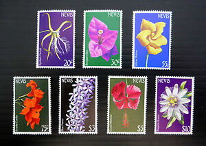 NEVIS 1984 Flowers 7 Values to $10 Face Value £7 Unmounted Mint SALE FP180