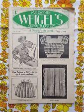 MADAME WEIGEL'S JOURNAL OF FASHION February 1, 1935 vintage pattern magazine