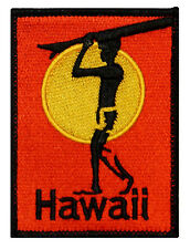 """Hawaii"" Surfboard Beach Bum Wave Rider Ocean Surf Sew On Applique Patch"