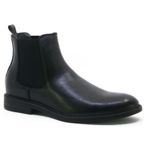 MENS CHELSEA CASUAL BOOTS DEALER ANKLE SMART FORMAL BROGUE SLIP ON SHOES SIZE