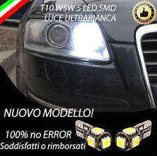 COPPIA LUCI POSIZIONE LED AUDI A6 C6 T10 W5W BIANCO CANBUS