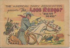 LONE RANGER 0 DAIRY MINI COMIC GIVEAWAY PROMO MILK FOR BIG MIKE 1955 RARE F+
