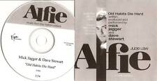"ROLLING STONES Mick Jagger & Dave Stewart Promo CD ""Old Habbits Die Hard"""