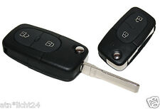 Klappschlüssel Schlüssel VW Golf IV 4 Bora Passat Polo 2 Tasten Funkschlüssel