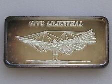 1976 Hamilton Mint Otto Lilienthal HAM-668 Silver Art Bar D2216
